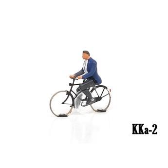 Cycliste homme prêt à rouler Magnorail