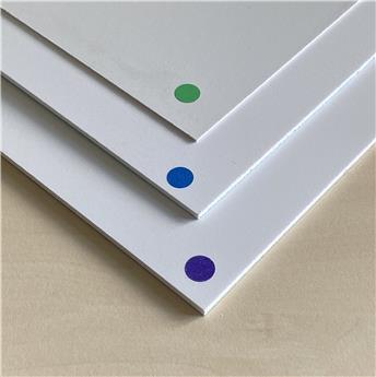 Plaque de PVC expansé 200x300 mm x 2 mm