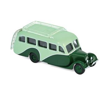 Véhicule Citroën U23 autocar - 1947 - Vert clair et foncé