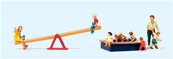 Jeux enfants + enfants H0 - Preiser