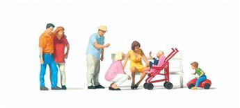 Promenade en famille H0 - Preiser