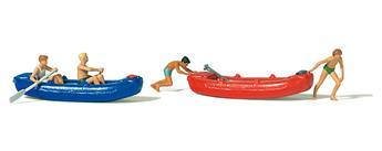 Barque avec ado H0 - Preiser