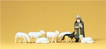 Moutons et bergers- H0 - Preiser