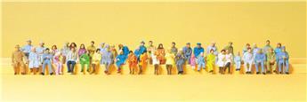 48 figurines  - H0 - Preiser