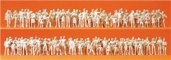 130 passants et spectateurs  - H0 - Preiser