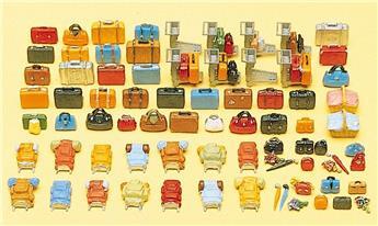 Bagages  - H0 - Preiser