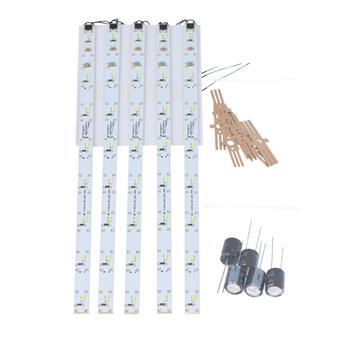 Kit de démarrage - Éclairage de voiture LED set 5 x 230 mm blanc