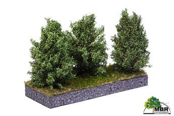 Grand buisson vert blanc 10-12 cm