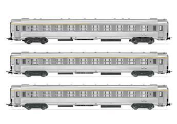 """3 voitures DEV Inox SNCF, 1ème classe """"La Mouette"""" -A9myfi et A5myfi- ép IV"""
