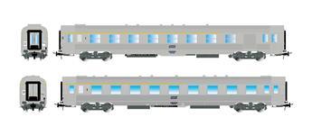 2 voitures DEV Inox SNCF, 1ème classe -A5rt et A7Dtj - ép IV