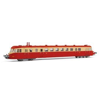 Autorail diesel ABJ 2, livrée rouge/beige avec toit rouge, ép. IV SNCF