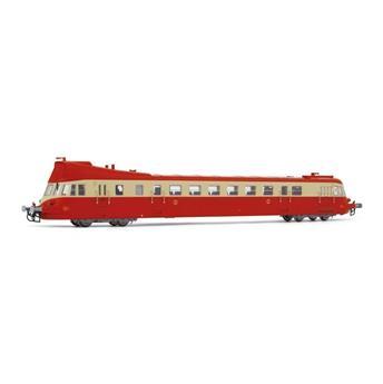 Autorail diesel ABJ 3, livrée rouge/beige avec toit rouge, ép. IV SNCF