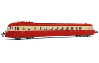 Autorail diesel ABJ 4, livrée rouge/beige avec toit rouge, ép. IV SNCF