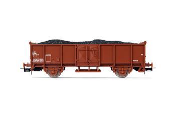 Wagon ouvert à 2 essieux avec chargement de charbon SNCF