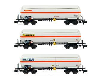 Coffret de 3 wagons-citernes de gaz, 1 x Ermewa Sati, 1 x Algeco, 1 x Simotra, ép. IV-V SNCF