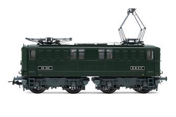 Locomotive électrique série BB 1612, livrée verte, époque III SNCF