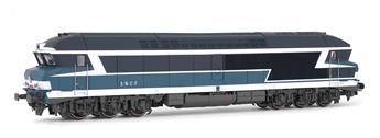 Locomotive diesel classe CC 72000 livrée bleu/blanc, ép. IV SNCF