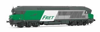 Locomotive diesel classe CC 72000 livrée Fret, ép. V SNCF