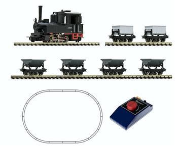 Coffret de démarrage analogique - locomotive à vapeur avec train de wagonnets