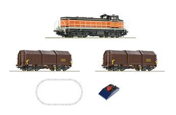 Coffret de démarrage analogique - locomotive diesel BB63000 avec train de marchandises SNCF
