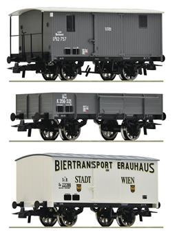 Coffret 3 pièces - Train de marchandises des kkStB