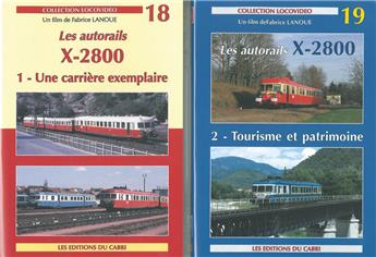 Les autorails X-2800 (lot DVD)