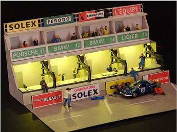 Façade Stands Circuit du Mans - H0