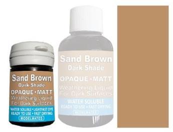 Mélange liquide opaque sable foncé
