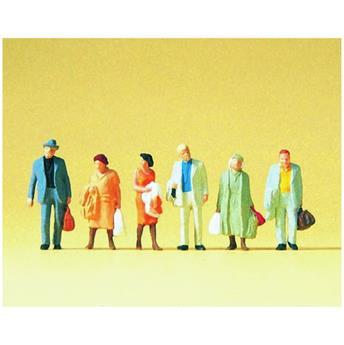 Voyageurs sur le quai 1 - 6 figurines - H0 - Preiser