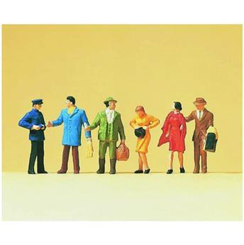 Voyageurs sur le quai 2  - 6 figurines - H0 - Preiser