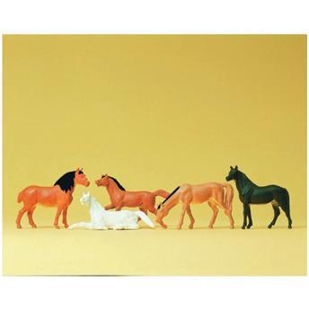 5 chevaux - H0 - Preiser