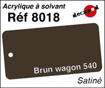 Peinture acrylique Brun wagon 540 satiné