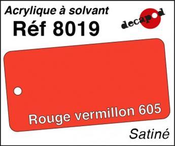 Peinture acrylique Rouge vermillon 605 satiné
