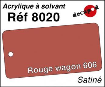 Peinture acrylique Rouge wagon 606 satiné