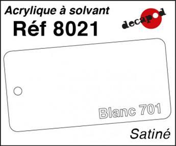 Peinture acrylique Blanc 701 satiné