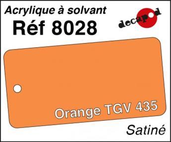 Peinture acrylique Orange TGV 435 satiné