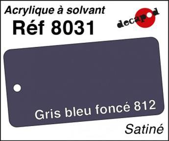 Peinture acrylique Gris bleu foncé 812 satiné
