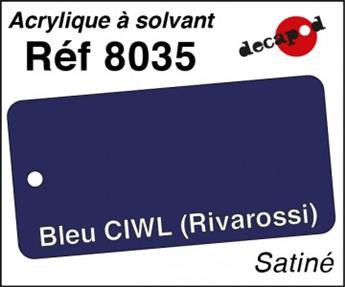 Peinture acrylique Bleu CIWL Rivarossi satiné