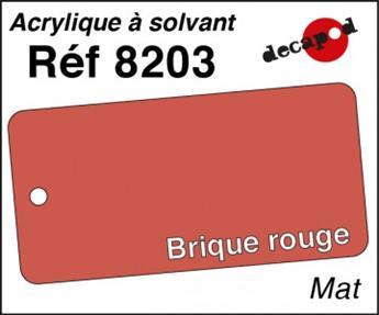 Peinture acrylique Brique rouge mat