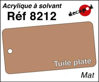 Peinture acrylique Tuile plate mat