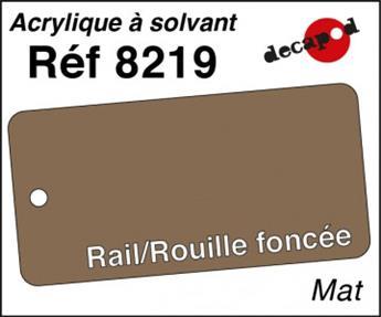 Peinture acrylique Rail rouge foncée mat