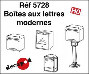 Boîtes aux lettres modernes