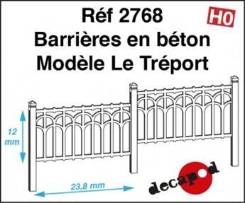 Barrières en béton modèle Le Tréport