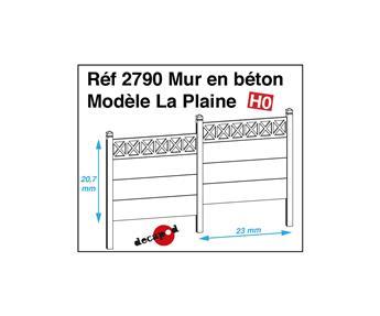Barrières en béton modèle La Plaine