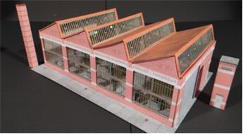 Usine à toiture shed - Échelle N