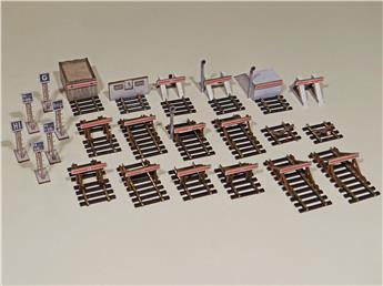 18 heurtoirs de différents types + 6 tableaux fixes