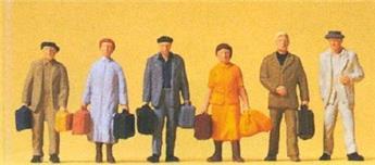 Voyageurs sur le quai - H0 - Preiser