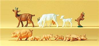 Chèvres et porcs - H0 - Preiser