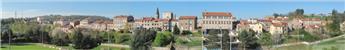 Fond de décor panoramique Village - 30 cm