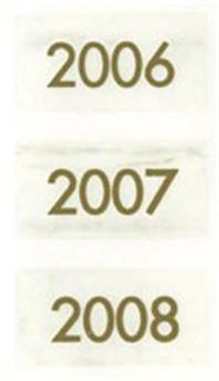 Millésimes 2006 à 2008